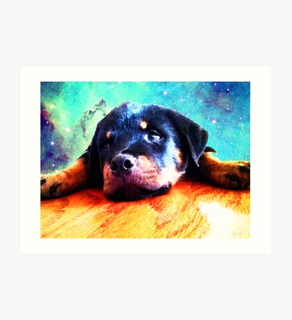 Rottie Puppy by Sharon Cummings Art Print