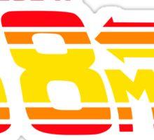 88 miles per hour Sticker