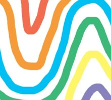 Spectrum of Swirling Color Sticker