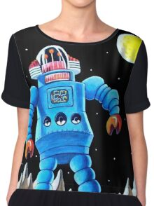 BIG BLUE ROBOT Chiffon Top