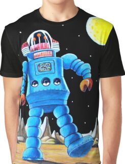 BIG BLUE ROBOT Graphic T-Shirt