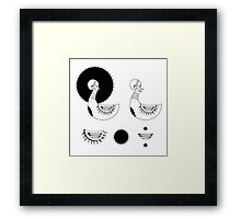 Stylized black swans Framed Print