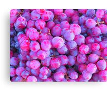 Purple Jam Grape Group Canvas Print