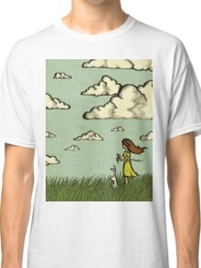 Girl Under the Clouds  Classic T-Shirt