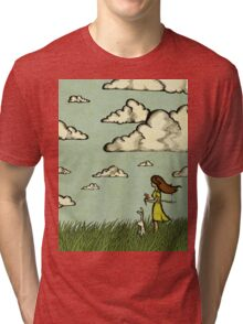 Girl Under the Clouds  Tri-blend T-Shirt