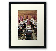 Go Away! Framed Print