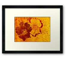 Cool, unique red yellow asian style art design Framed Print