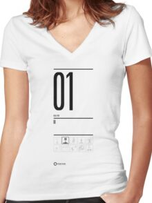 TEST 01 Women's Fitted V-Neck T-Shirt