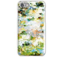 Green grunge style abstract art graphic design iPhone Case/Skin