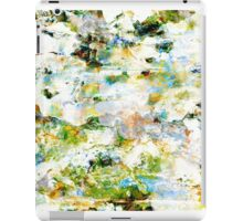 Green grunge style abstract art graphic design iPad Case/Skin