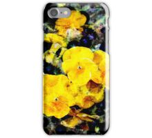 Cool modern yellow viola flower floral pattern art iPhone Case/Skin