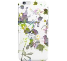 Cool, unique modern romantic flower pattern design iPhone Case/Skin