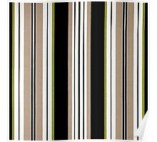Fabric Art, Pattern, Bold Brown Vertical Stripes Poster