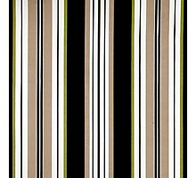Fabric Art, Pattern, Bold Brown Vertical Stripes Photographic Print