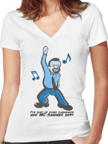 David Brent - The Office - Dance Women's Fitted V-Neck T-Shirt