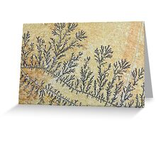 Dendritic minerals  of iron- and manganese oxides Greeting Card
