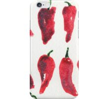 Peppers Watercolor pattern iPhone Case/Skin
