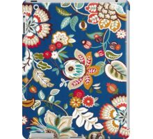 Fabric Art, Pattern, Dark Blue Floral Brocade Print iPad Case/Skin