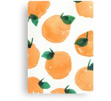 Oranges Pattern Canvas Print