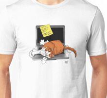 Cat-Napped Computer Unisex T-Shirt