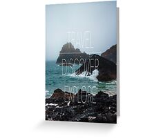 TRAVEL-DISCOVER-EXPLORE Greeting Card