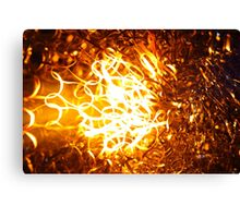 Glowing steel  in the flame of a  blowpipe. Canvas Print