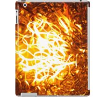 Glowing steel  in the flame of a  blowpipe. iPad Case/Skin