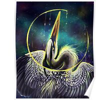Great Blue Space Heron Poster