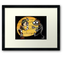 Egyptian Tomb explorer and Mummy Framed Print