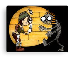 Egyptian Tomb explorer and Mummy Canvas Print