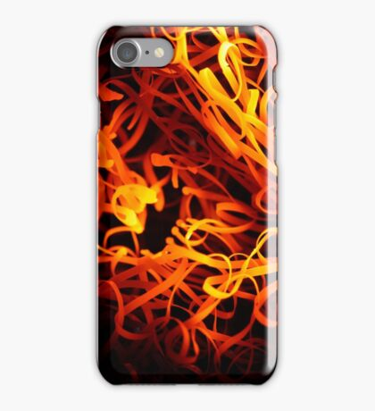 Glowing steel wool in the flame of a  blowpipe. iPhone Case/Skin
