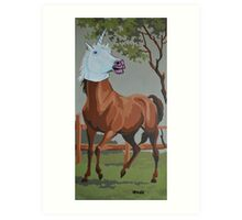 Undercover Horse Goes Undercover Art Print