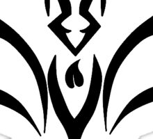 Tribal Bat Logo Sticker