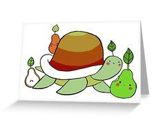 Pear Turtle Greeting Card