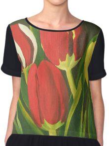 Tulip Time Chiffon Top