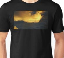 Golden Cloud with Power Lines Unisex T-Shirt