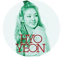 Girls' Generation Hyoyeon Love & Peace  Photographic Print