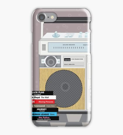 Woodgrain Blaster With Tapes iPhone Case/Skin