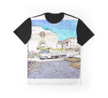 L'Aquila: collapsed church with truck and rubble Graphic T-Shirt