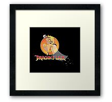 Dragons Lair - Dirk & Daphne Dragons Lair Text Variant Framed Print