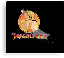 Dragons Lair - Dirk & Daphne Dragons Lair Text Variant Canvas Print