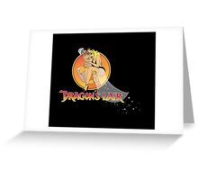 Dragons Lair - Dirk & Daphne Dragons Lair Text Variant Greeting Card