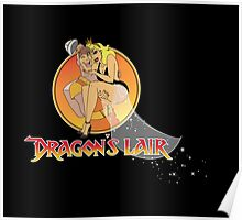 Dragons Lair - Dirk & Daphne Dragons Lair Text Variant Poster