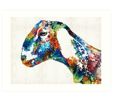 Colorful Goat Art By Sharon Cummings  Art Print