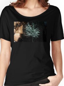 Tree in Snow Fall Women's Relaxed Fit T-Shirt