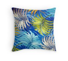 Fabric Art, Pattern, Tropical Palm Fronds Throw Pillow