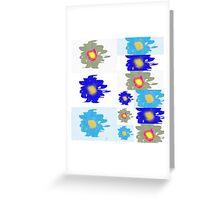 Bloom tiles Greeting Card