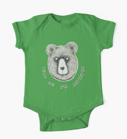 Artistic Bear Tee One Piece - Short Sleeve