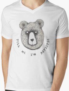 Artistic Bear Tee Mens V-Neck T-Shirt