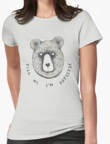 Artistic Bear Tee Womens Fitted T-Shirt